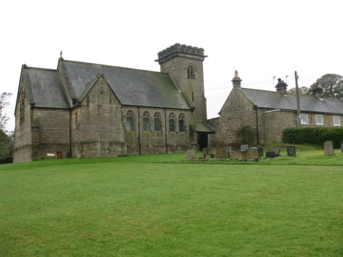 and a view of the north side of the chapel and the adjacent graveyard...