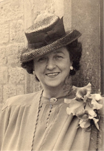 Mrs Ellen M. I'Anson – licensee for 20 years until November 1952 (photographed 1946)