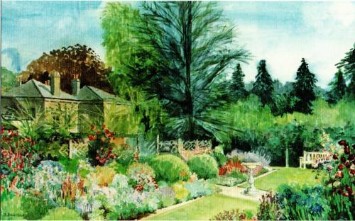 a Painting of the rear garden at Thimbleby House (by Susan Dugdale)