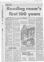 Village Room press cutting-dated 24th Augist 1990 - click for full size image