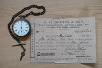 The watch which is accompanied by its original receipt, was owned by William Busfield (1859-1940) of Hampsthwaite. - click for full size image