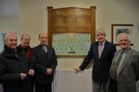 The unveiling and rededication ceremony of the In Memoriam panel held on the 6th March 2014 at the Village  Society's A.G.M. - click for full size image