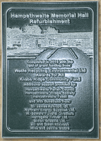 The completed plaque - click for full size image