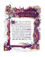 Canadian WW1 Book of Remembrance - click for full size image