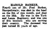 Harold Barker Obituary - click for full size image