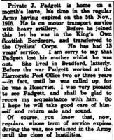 Harrogate Advertiser 21st February 1917 - click for full size image