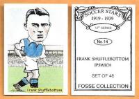 Ipswich Town Football card produced by Fosse Collection - click for full size image